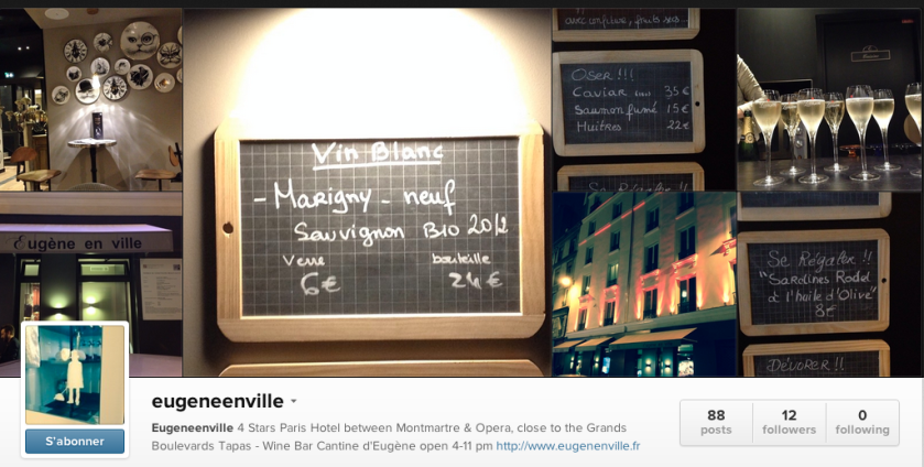 hotel eugène en ville instagram