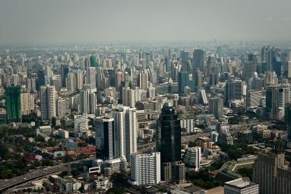 Vue sur Bangkok depuis la Baiyoke Tower II ©QSimple