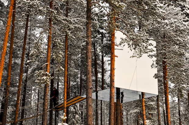 Mirrorcube, TreeHotel, Harads, Arctic Sweden